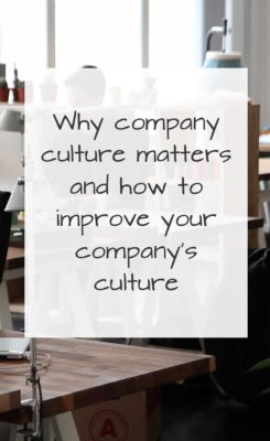 company culture matters to your bottom line
